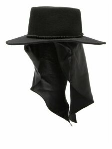 House Of Lafayette - Satin-panel Fedora Hat - Womens - Black