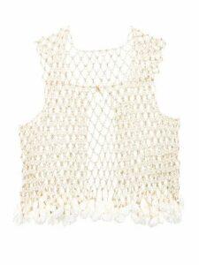 Rosantica - Sentiero Faux-pearl Vest - Womens - White