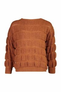 Womens Bobble Knit Jumper - beige - M, Beige