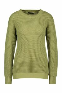Womens Oversized Jumper - green - XS, Green