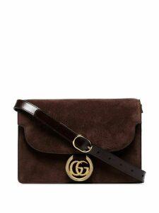 Gucci small GG Ring shoulder bag - Brown