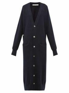 Extreme Cashmere - No. 125 Coco Longline Stretch-cashmere Cardigan - Womens - Navy