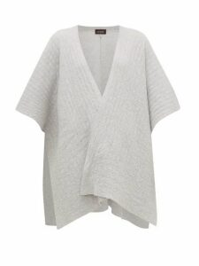 Eskandar - Textured-cashmere Tabard Cardigan - Womens - Light Grey