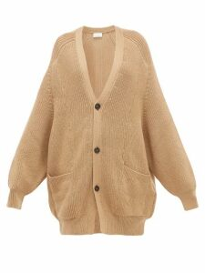 Raey - Oversized Chunky Knit Wool Cardigan - Womens - Camel