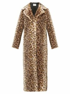 Stand Studio - Alena Leopard Print Faux-fur Coat - Womens - Leopard