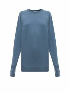 Raey - Raglan-sleeve Boyfriend Cashmere Sweater - Womens - Blue