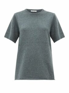 Extreme Cashmere - No.64 Wave Stretch-cashmere T-shirt - Womens - Khaki