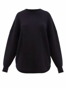 Extreme Cashmere - No.53 Crew Hop Stretch-cashmere Sweater - Womens - Navy
