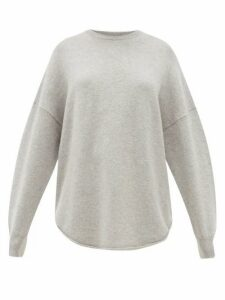 Extreme Cashmere - No. 53 Crew Hop Oversized Stretch-cashmere Sweater - Womens - Grey