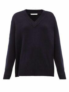 Extreme Cashmere - No.124 Vital Stretch-cashmere V-neck Sweater - Womens - Navy