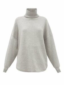 Extreme Cashmere - No. 52 Roll Stretch-cashmere Sweater - Womens - Grey