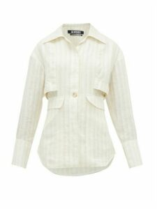 Jacquemus - Monceau Striped Linen Shirt - Womens - White