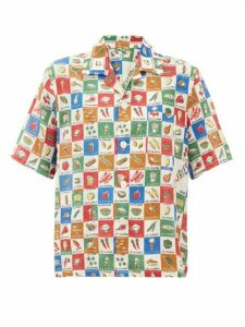 Bode - Louie Calorie-print Cotton Shirt - Womens - Multi