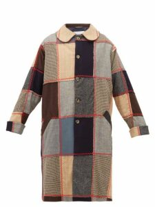 Bode - Topstitched Patchwork Wool Coat - Womens - Multi