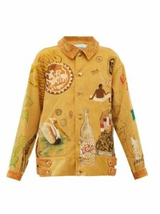 Bode - Senior Hand-painted Cotton-corduroy Jacket - Womens - Beige