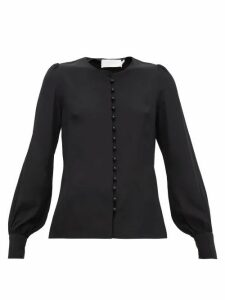 Goat - Jude Faux-pearl Button Silk Blouse - Womens - Black