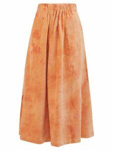 Story Mfg. - Todash Organic-cotton Corduroy Skirt - Womens - Pink