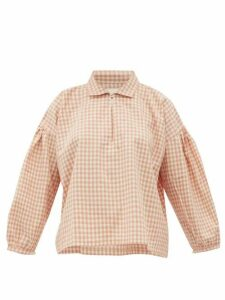 Story Mfg. - Amber Gingham Organic-cotton Shirt - Womens - Pink Multi