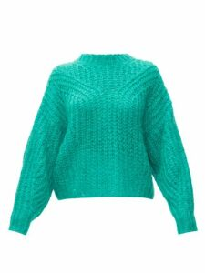 Isabel Marant - Inko Pointelle Mohair-blend Sweater - Womens - Green