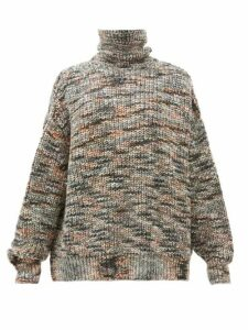 Raey - Oversized Roll Neck Marled Sweater - Womens - Grey Multi