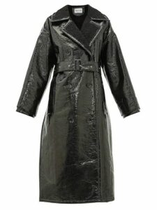 Stand Studio - Marissa Faux-shearling Trench Coat - Womens - Black
