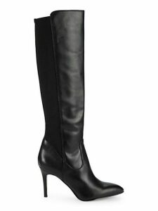 Olene Point-Toe Knee-High Leather Boots