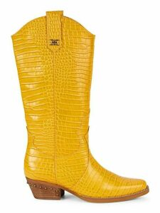 Oakland Croc-Embossed Leather Cowboy Boots
