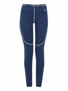 Perfect Moment - Thermal Technical Jersey Leggings - Womens - Navy