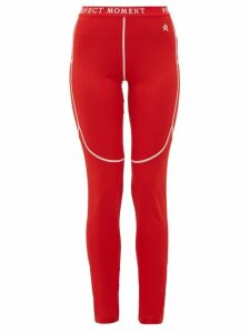 Perfect Moment - Thermal Technical-jersey Leggings - Womens - Red