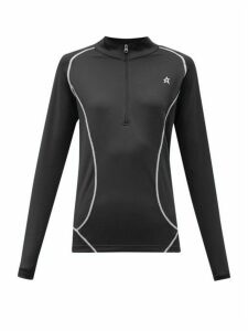 Perfect Moment - Half Zip Technical Jersey Thermal Top - Womens - Black
