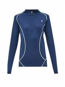 Perfect Moment - Half-zip Roll-neck Technical-jersey Top - Womens - Navy