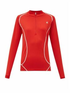 Perfect Moment - Half-zip High-neck Technical-jersey Top - Womens - Red