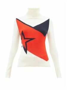Perfect Moment - Super Day Star-intarsia Merino-wool Sweater - Womens - White