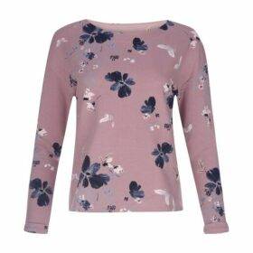 Long Sleeve Poppy Garden Print Top