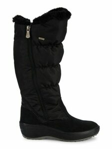 Holly Faux Fur-Trim Waterproof Snow Boots