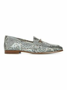 Loraine Snake Print Leather Horsebit Loafers