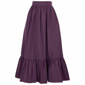 Valentino Purple Flared Taffeta Skirt
