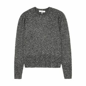 Frame Denim Grey Sequin-embellished Jumper