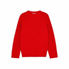Equipment Omee Red Chunky-knit Wool Jumper