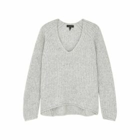 Rag & Bone Joseph Light Grey Knitted Jumper