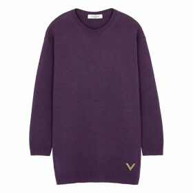 Valentino Purple Cashmere Jumper