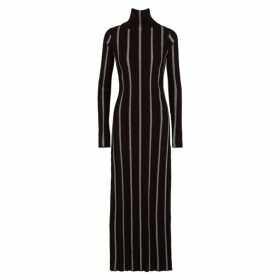 Jil Sander Striped Longline Bouclé-knit Jumper