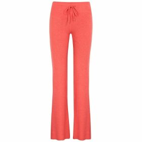 Wildfox Tennis Club Coral Brushed-jersey Sweatpants