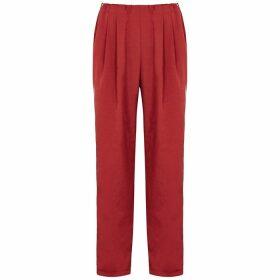 Clu Red Satin Sweatpants