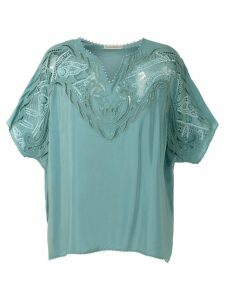 Martha Medeiros lace blouse - Blue