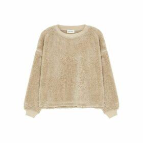 American Vintage Nikita Camel Fleece Sweatshirt