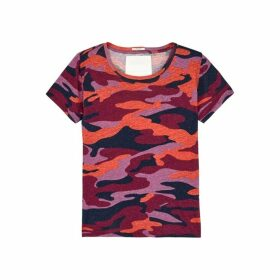Mother Itty Bitty Sinful Camouflage-print Cotton-blend T-shirt