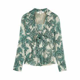 Diane Von Furstenberg Alastor Floral-print Silk-blend Blouse