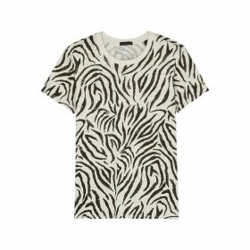 ATM Anthony Thomas Melillo Schoolboy Zebra-print Slubbed Cotton T-shirt