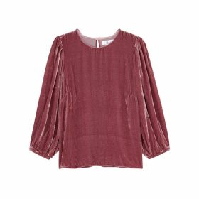 Velvet By Graham & Spencer Brenda Pink Velvet Top